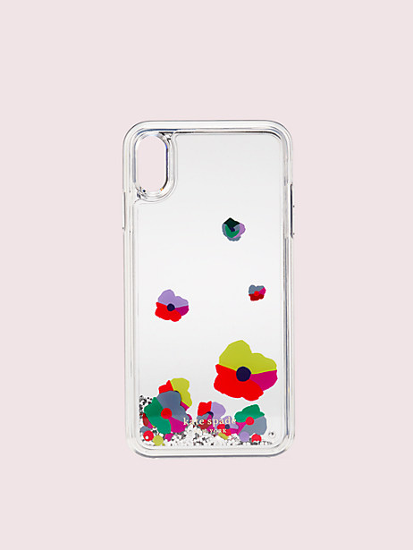 collage liquid glitter iphone xs max case by kate spade new york