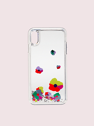 collage liquid glitter iphone xs max case by kate spade new york non-hover view
