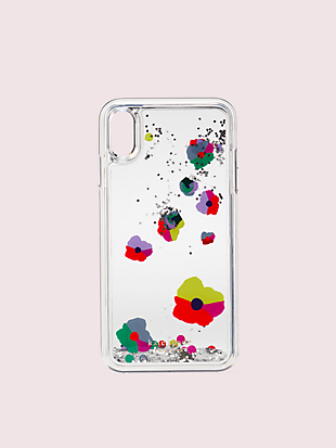 collage liquid glitter iphone xs max case by kate spade new york hover view