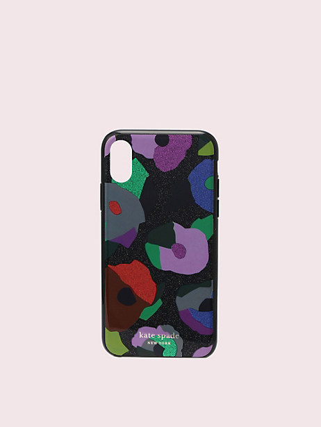 glitter floral collage iphone xs case by kate spade new york