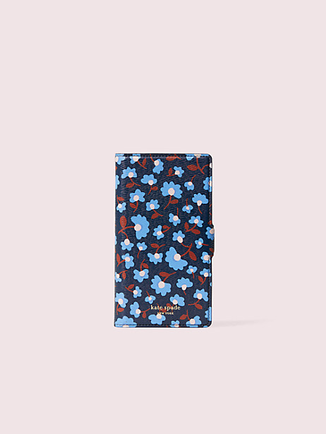 sylvia party floral iphone x & xs magnetic wrap folio case by kate spade new york