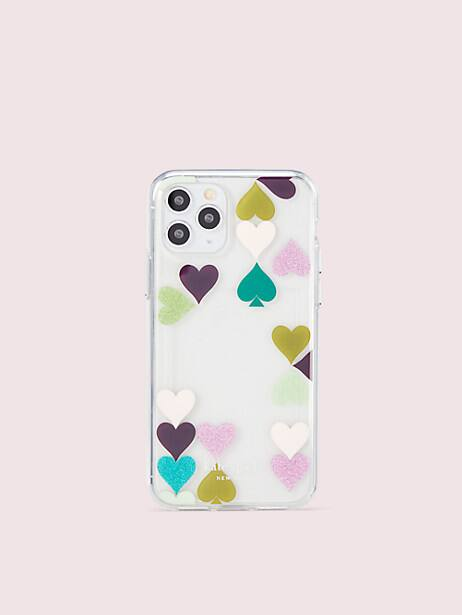 heart spade photo frame iphone 11 pro case by kate spade new york