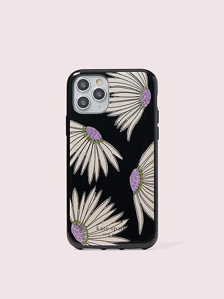 Jeweled falling flower iphone 11 pro case | Kate Spade New York