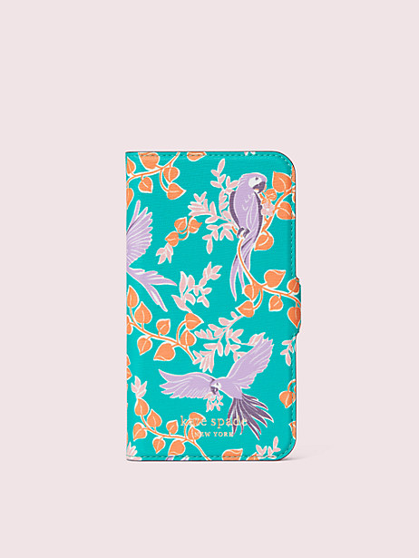 bird party iphone 11 pro magnetic wrap folio case by kate spade new york
