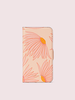 falling flower iphone 11 pro magnetic wrap folio case by kate spade new york non-hover view