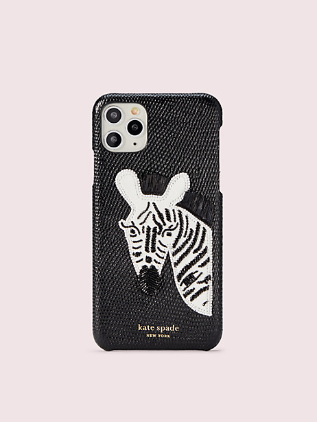 beaded zebra iphone 11 pro max case by kate spade new york