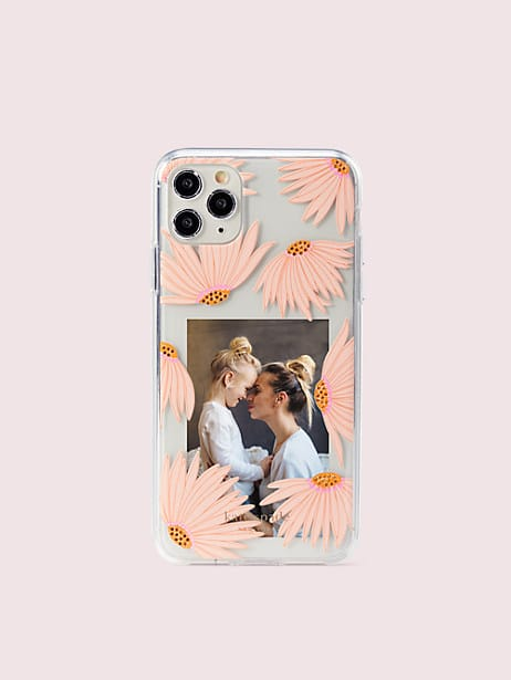jeweled falling flower photo frame iphone 11 pro max case by kate spade new york