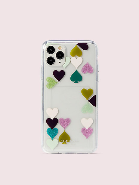 heart spade photo frame iphone 11 pro max case by kate spade new york