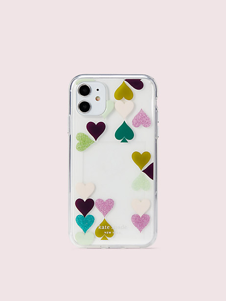 heart spade photo frame iphone 11 case by kate spade new york