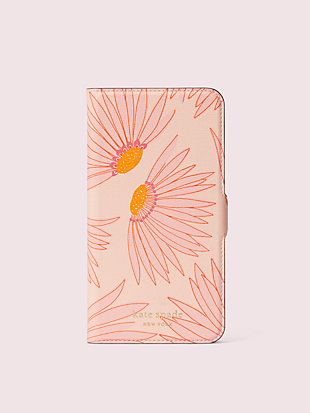 falling flower iphone 11 pro max magnetic wrap folio case by kate spade new york non-hover view