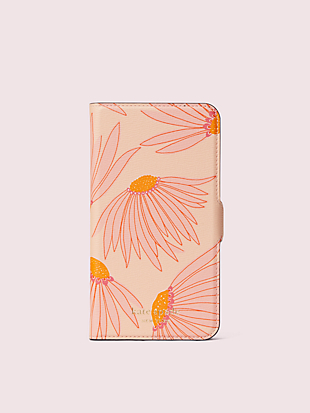 falling flower iphone 11 magnetic wrap folio case by kate spade new york non-hover view