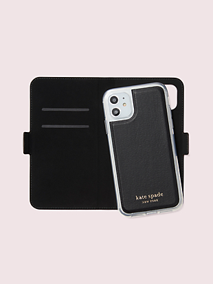 bird party iphone 11 magnetic wrap folio case by kate spade new york hover view