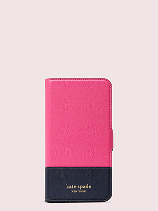 spencer iphone 11 pro max magnetic wrap folio case by kate spade new york non-hover view