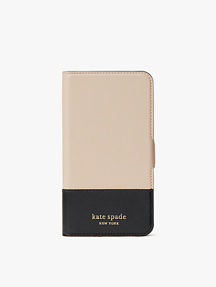 spencer iphone 11 magnetic wrap folio case by kate spade new york non-hover view