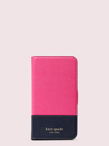 spencer iphone 11 magnetic wrap folio case by kate spade new york