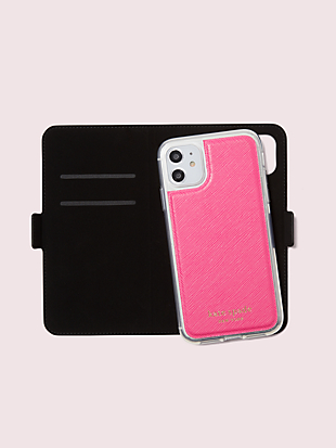 spencer iphone 11 magnetic wrap folio case by kate spade new york hover view