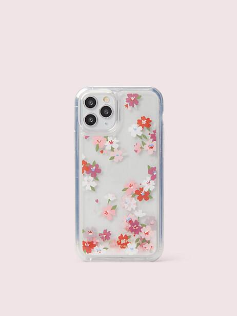 cherry blossom liquid glitter iphone 11 pro case by kate spade new york