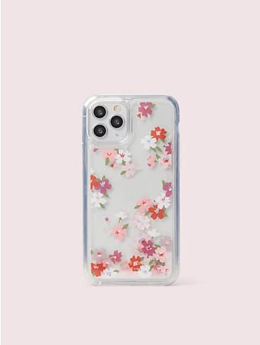 Hülle mit Kirschblüten und Glitzerflüssigkeit für iPhone 11 Pro, , rr_productgrid