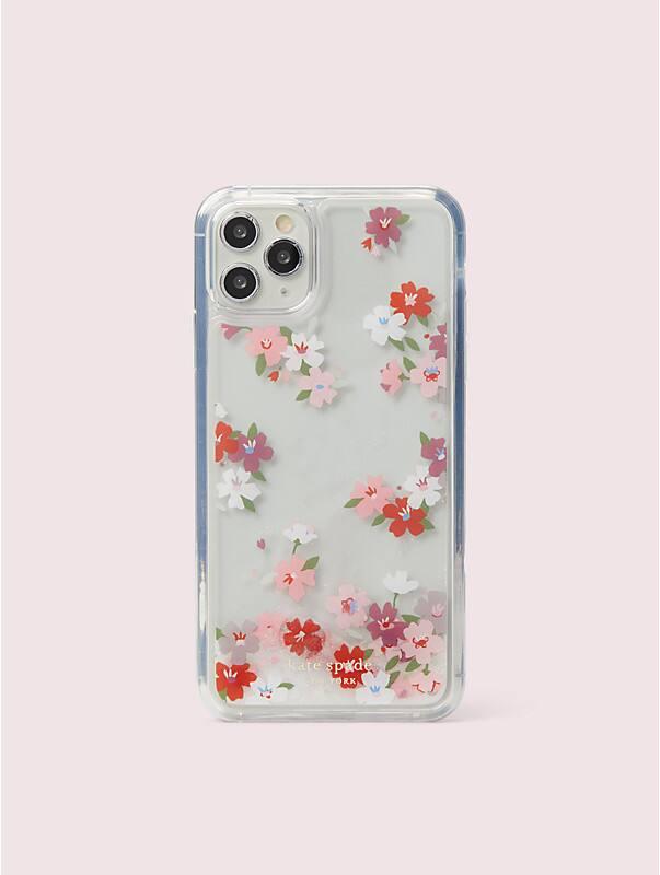 Hülle mit Kirschblüten und Glitzerflüssigkeit für iPhone 11 Pro Max, , rr_large