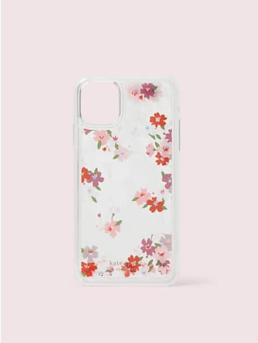 Hülle mit Kirschblüten und Glitzerflüssigkeit für iPhone 11 Pro Max, , rr_productgrid