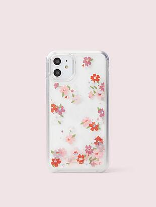 cherry blossom liquid glitter iphone 11 case by kate spade new york non-hover view