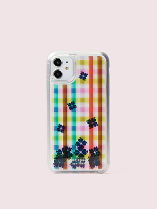 bella plaid liquid iphone 11 case by kate spade new york non-hover view