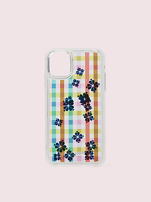 bella plaid liquid iphone 11 case by kate spade new york hover view