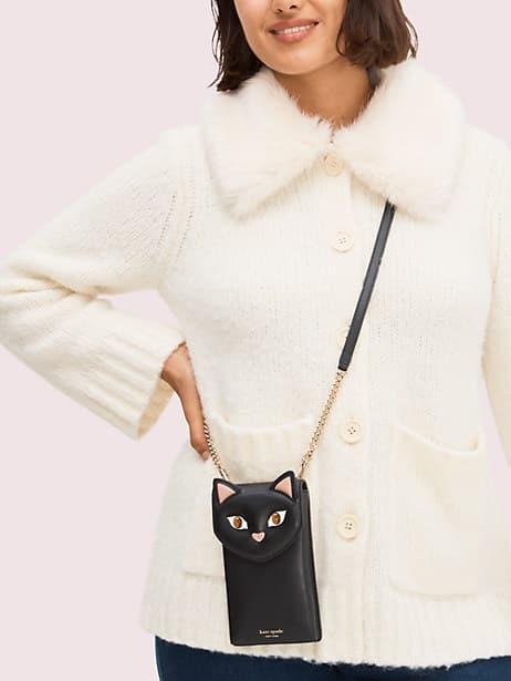 Meow cat north south phone crossbody | Kate Spade New York