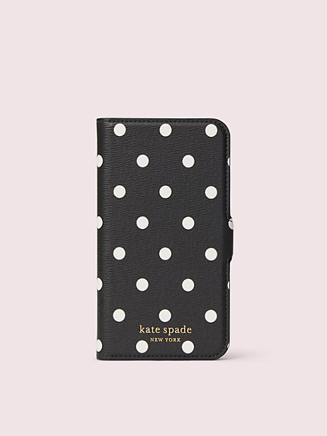 cabana dot iphone 11 pro magnetic wrap folio case by kate spade new york