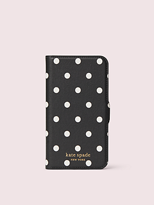 cabana dot iphone 11 pro magnetic wrap folio case by kate spade new york non-hover view