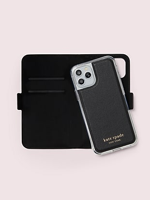 cabana dot iphone 11 pro magnetic wrap folio case by kate spade new york hover view