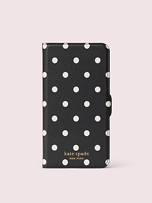 cabana dot iphone 11 pro max magnetic wrap folio case by kate spade new york non-hover view