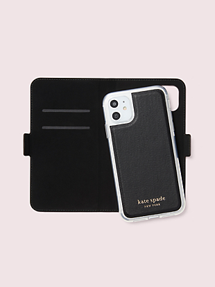 cabana dot iphone 11 magnetic wrap folio case by kate spade new york hover view