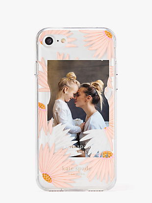 jeweled falling flower photo frame iphone 8 case by kate spade new york hover view