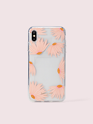 jeweled falling flower photo frame iphone xs max case by kate spade new york hover view