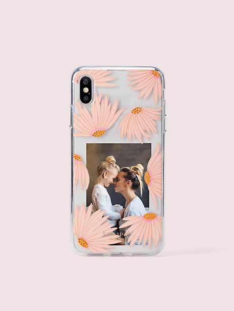 jeweled falling flower photo frame iphone xs max case by kate spade new york