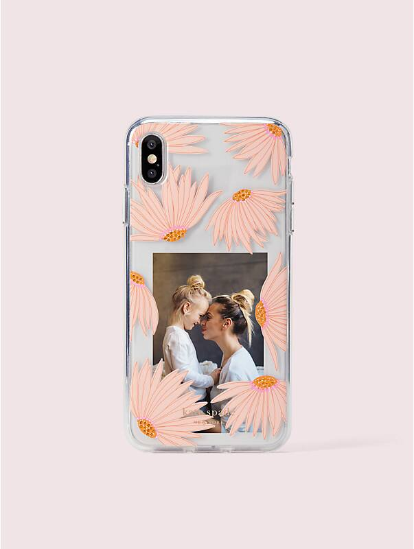 jeweled falling flower photo frame iphone xs max case, , rr_large