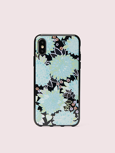 jeweled exotic bloom iphone x & xs case by kate spade new york