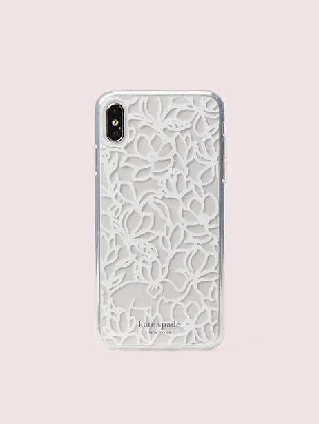 scribble flora iphone xs max case by kate spade new york
