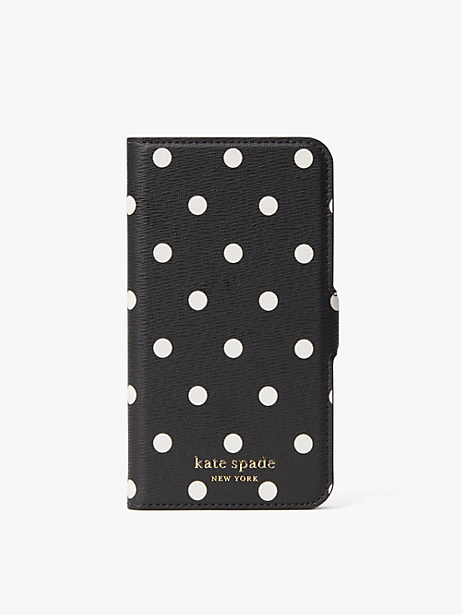 cabana dot iphone x & xs magnetic wrap folio case by kate spade new york