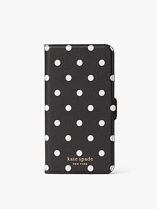 cabana dot iphone xs max magnetic wrap folio case by kate spade new york hover view