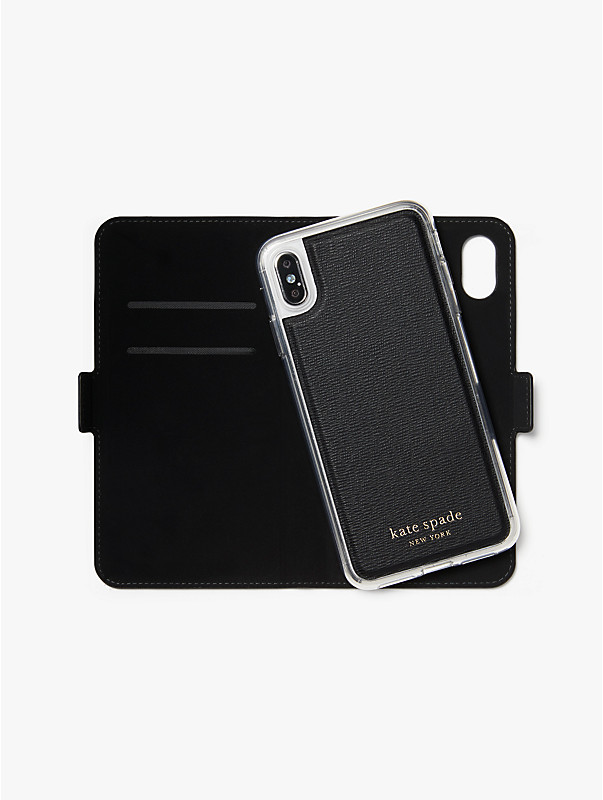 cabana dot iphone xs max magnetic wrap folio case, , rr_large