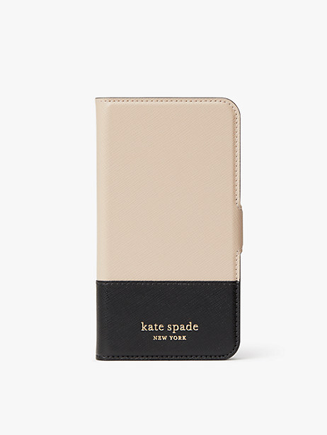 spencer iphone x & xs magnetic wrap folio case by kate spade new york