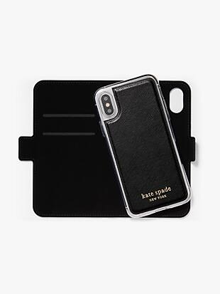 spencer iphone x & xs magnetic wrap folio case by kate spade new york hover view