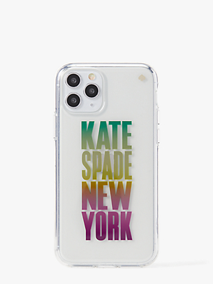 ombré-logo iphone 11 pro case by kate spade new york non-hover view