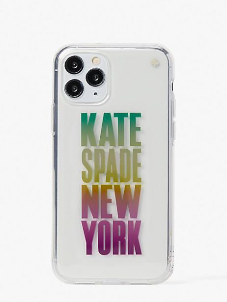 ombré-logo iphone 11 case by kate spade new york