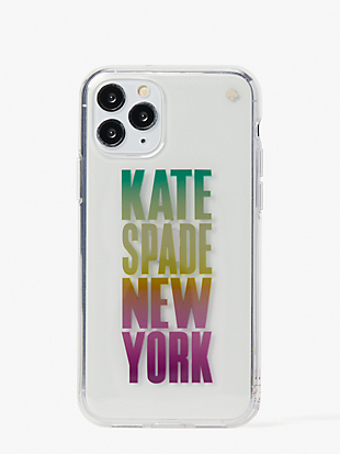 ombré-logo iphone 11 case by kate spade new york non-hover view
