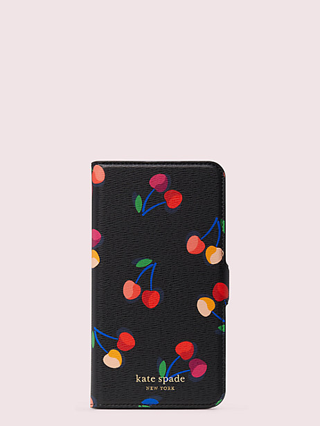 spencer cherries iphone 11 pro max magnetic wrap folio case by kate spade new york