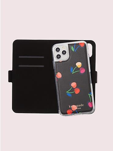 spencer cherries iphone 11 pro max magnetic wrap folio case, , rr_productgrid