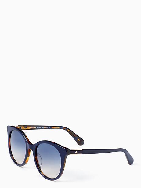 akayla sunglasses, blue, large by kate spade new york